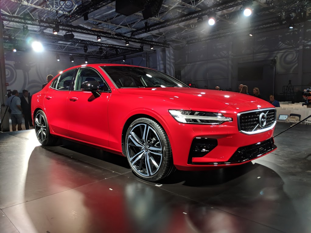 the new 2019 volvo s60 unveiled this morning in south carolina