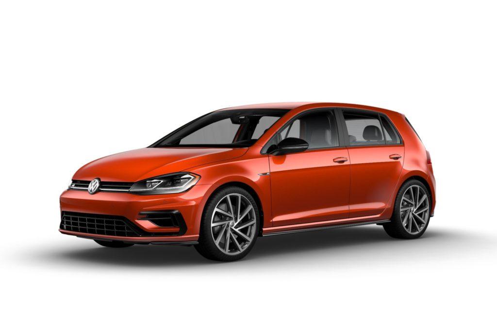 2019 Volkswagen Golf R Copper Orange