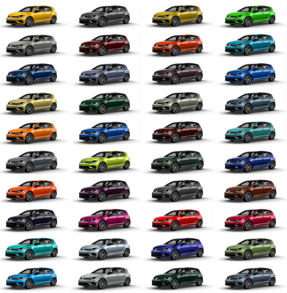 2019 Volkswagen Golf colors