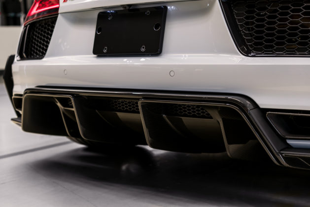 2018 Audi R8 V10 plus Coupe Competition package rear diffuser