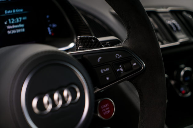 2018 Audi R8 V10 plus Coupe Competition package steering wheel