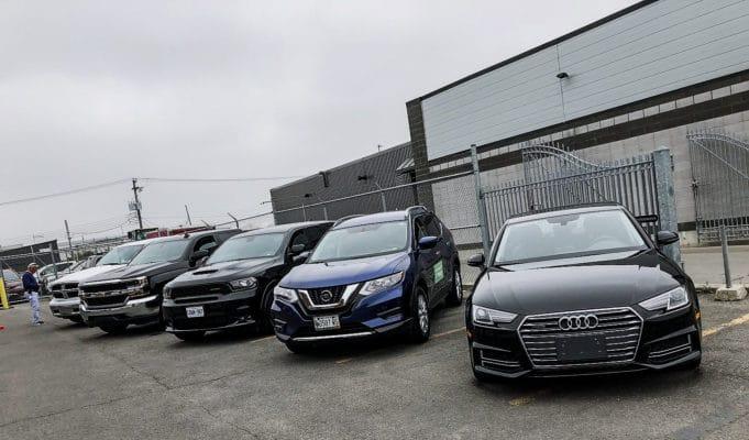 RAM 1500, Chevrolet Silverado, Dodge Durango, Nissan Rogue and an Audi A4 B9 on Nokian Tyres   Photo: Matt St-Pierre