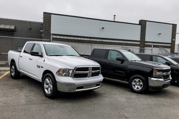RAM 1500 and a Chevrolet Silverado on Nokian Tyres | Photo: Matt St-Pierre