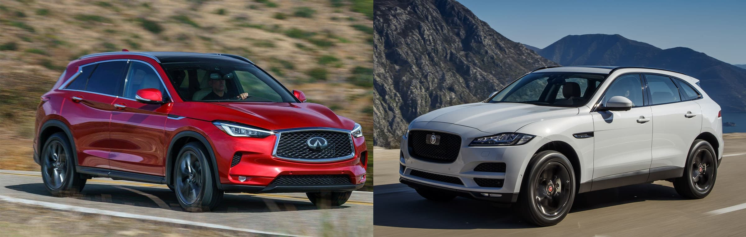 2019 Jaguar F Pace Vs 2019 Infiniti Qx50 Quick Comparison