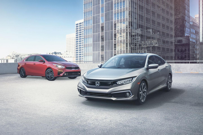 2019 Honda Civic Vs 2019 Kia Forte Quick Comparison Motor Illustrated