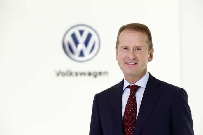 Dr. Herbert Diess, Chairman of the Board of Management of Volkswagen AG and Chairman of the Board of Management of the Volkswagen Passenger Cars brand