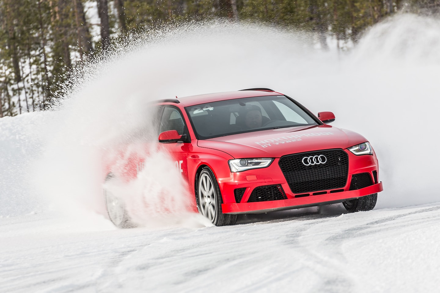 Winter tire testing with an Audi RS 4 Avant