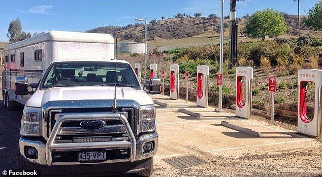 Pickups blocking Tesla superchargers