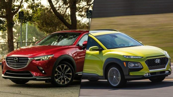2019 Hyundai Kona vs 2019 Mazda CX-3