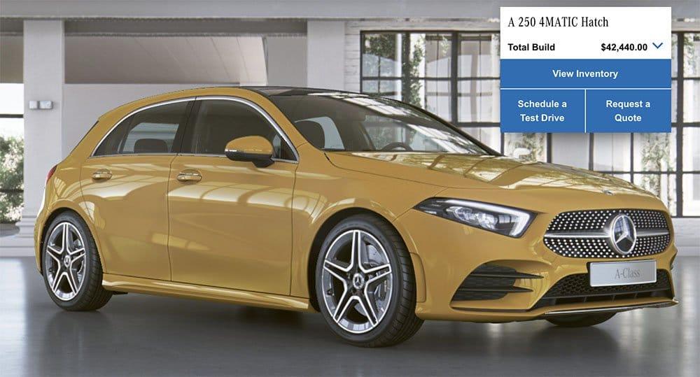 Mercedes-Benz A-Class Sun Yellow