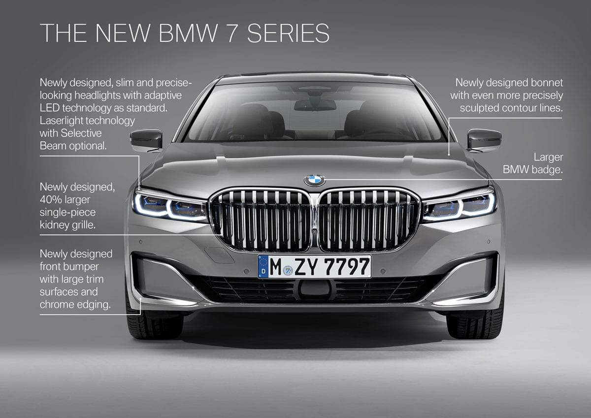 2020 Bmw 7 Series Gets Bigger Grill And More Tech Motor Illustrated