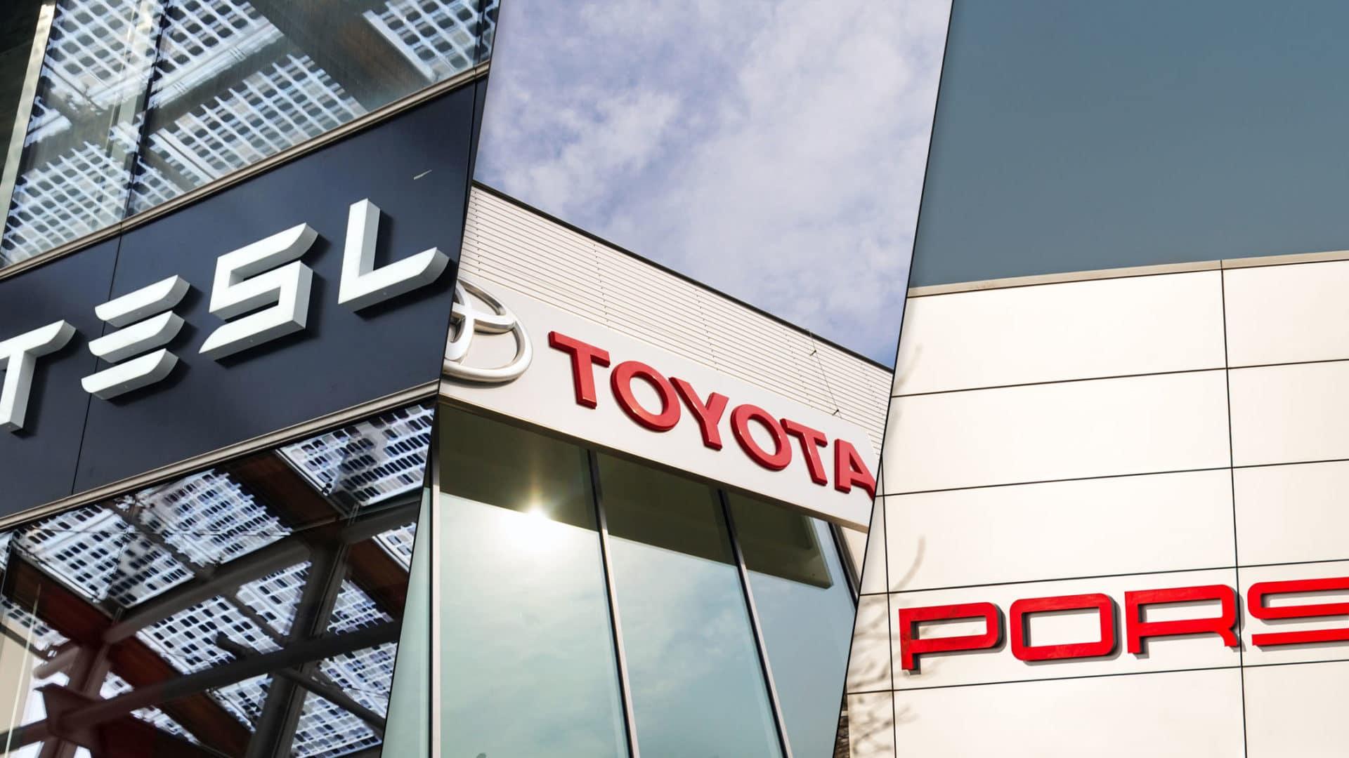 KBB Tesla Porsche Toyota