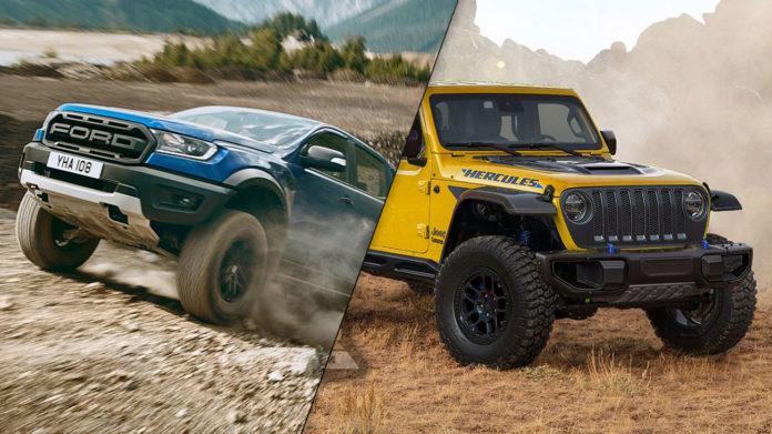 Ford Ranger Raptor vs Jeep Gladiator Hercules: Oh The ...