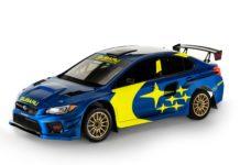Subaru WRX STI blue and yellow