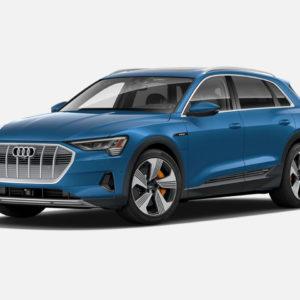 Audi e-tron 55 quattro in Antigua Blue Metallic