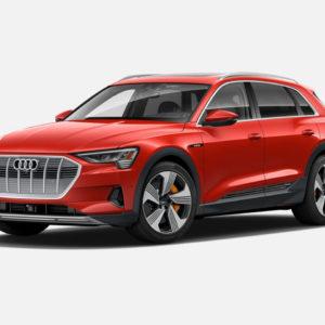 Audi e-tron 55 quattro in Catalunya Red Metallic