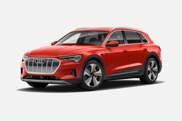 Audi e-tron 55 quattro in Catalunya Red Metallic
