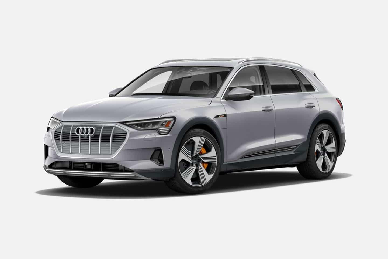 Audi e-tron 55 quattro in Florett Silver Metallic