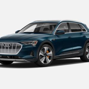 Audi e-tron 55 quattro in Galaxy Blue Metallic