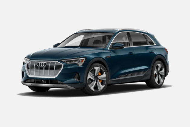 Audi e-tron 55 quattro in Galaxy Blue Metallic