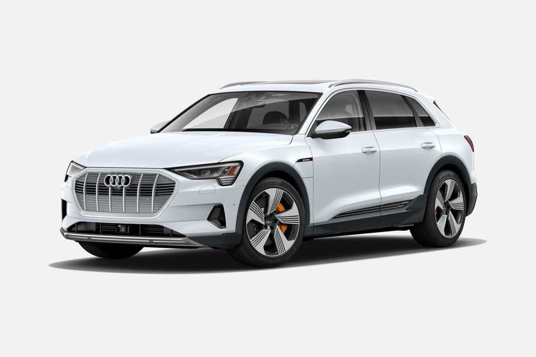 Audi e-tron 55 quattro in Glacier White Metallic