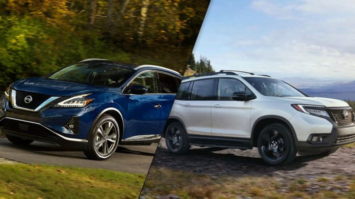 2019 Honda Passport Vs 2019 Nissan Murano Spec Comparison Mi