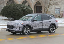 Ford Escape Hybrid Spy Shot