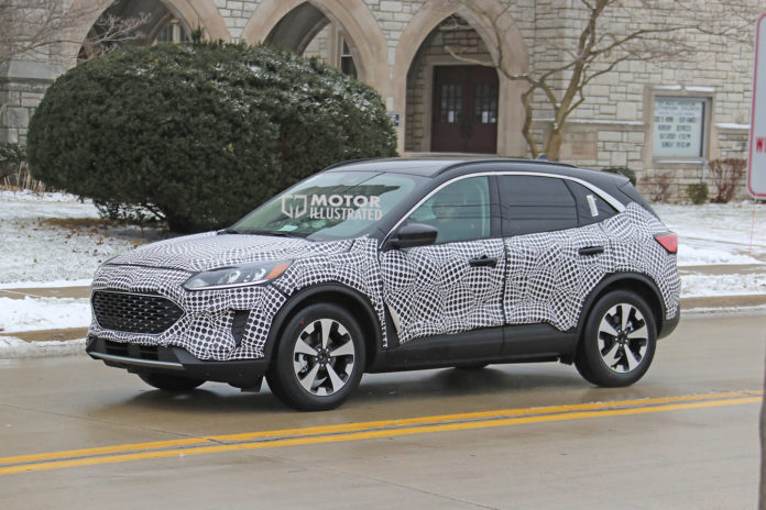 Ford Escape Hybrid Spy Shot
