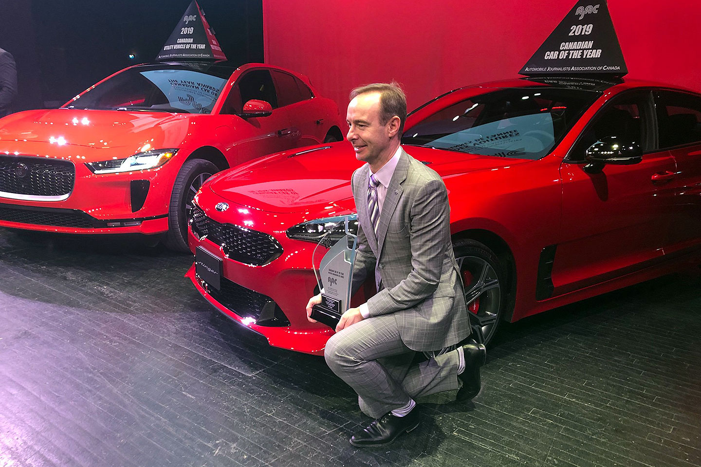 Michael Kopke, Director of Marketing for Kia Canada with the Kia Stinger