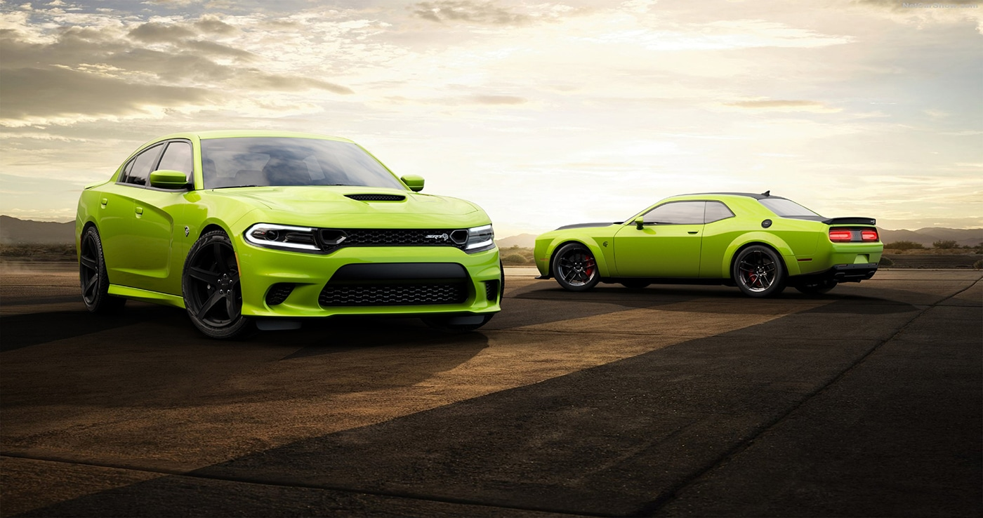 Dodge Sublime Green Challenger and Charger