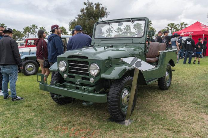 Toyota Land Cruiser FJ25 Army Green 1960 on display