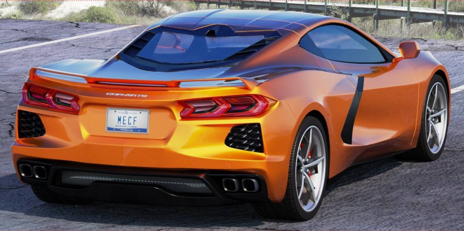 2020 Chevy Corvette C8 mid-engine rendering