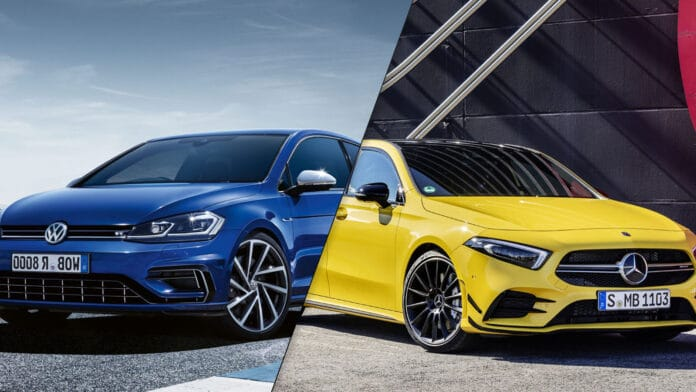 2020 Mercedes-AMG A 35 vs Volkswagen Golf R