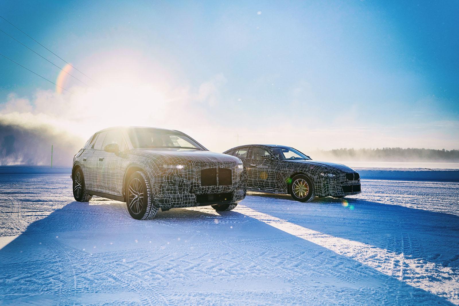 BMW i4, BMW iX3, BMW iNEXT testing