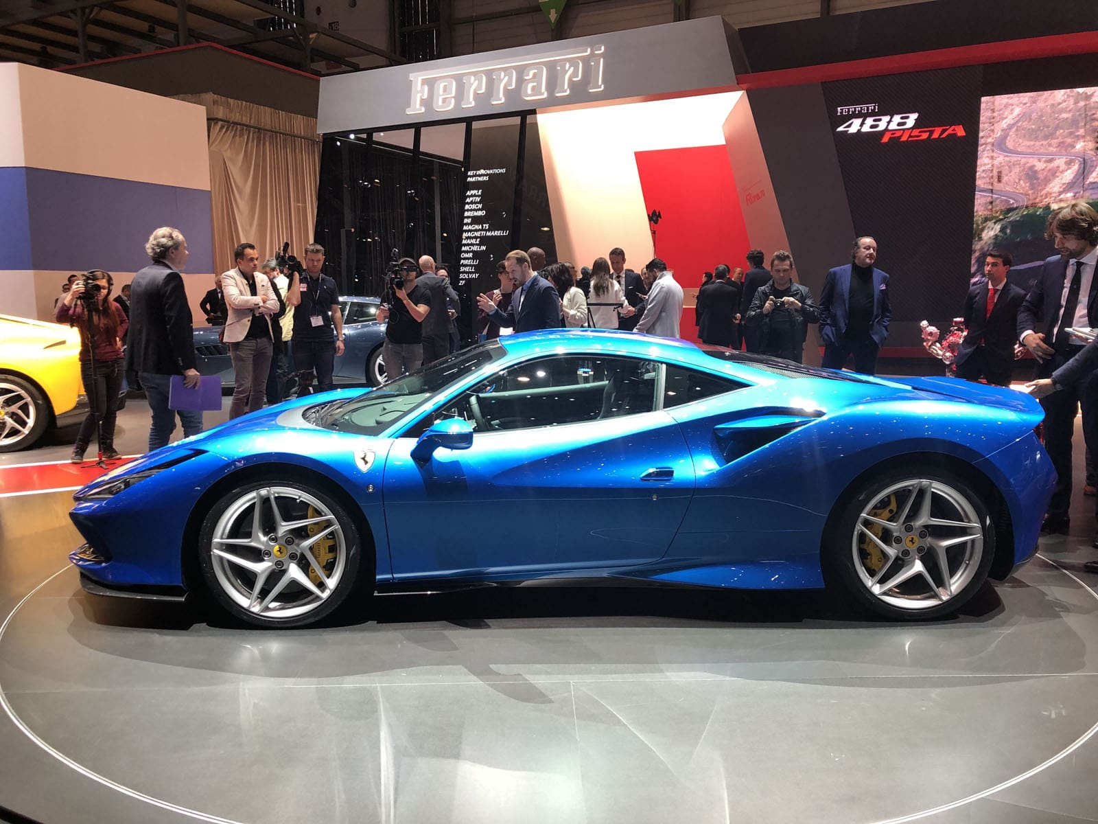 Ferrari F8 Tributo Looks Great In Blue Too At The Geneva Auto Show Motor Illustrated