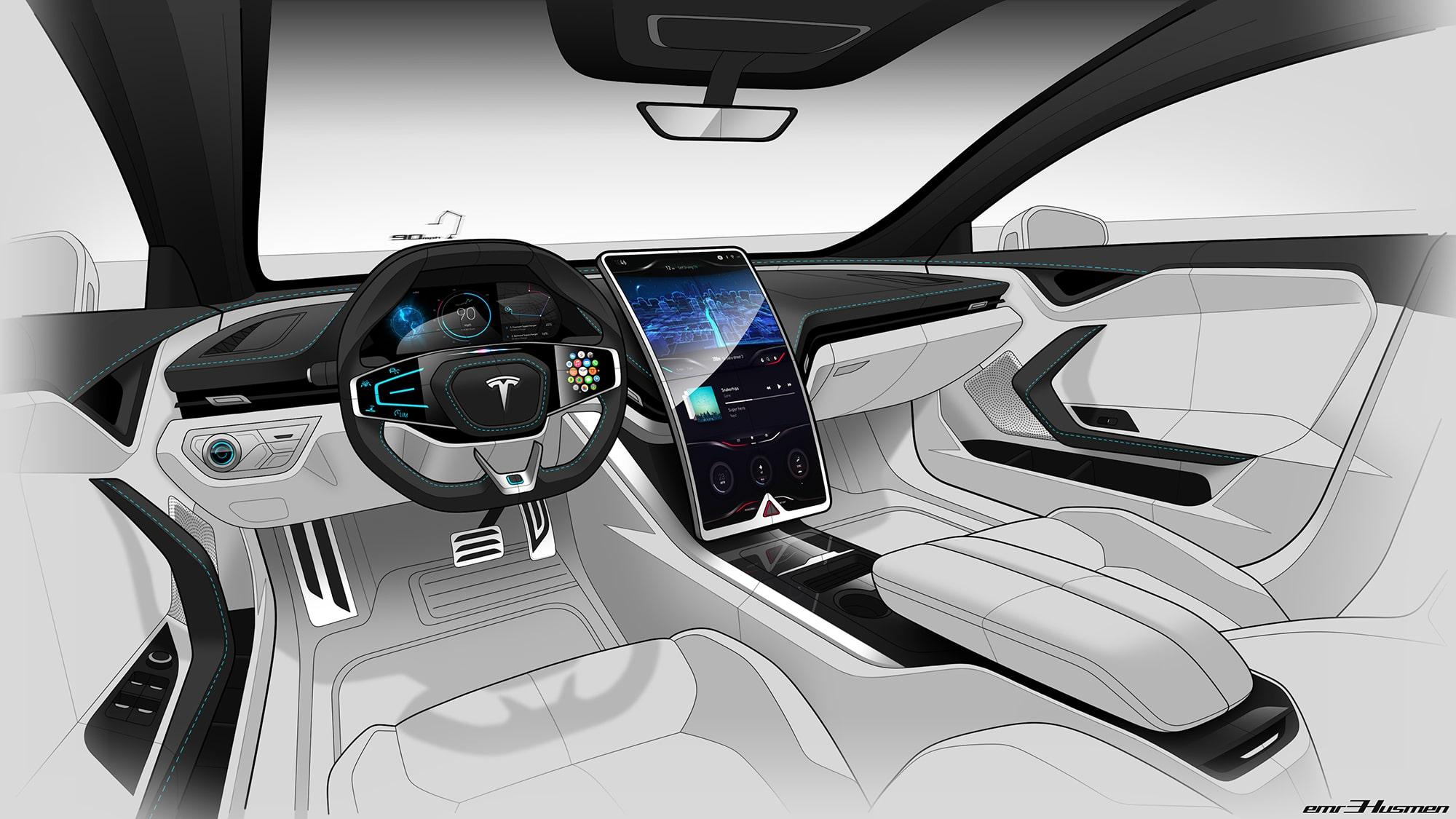 New Tesla Model S Rendering