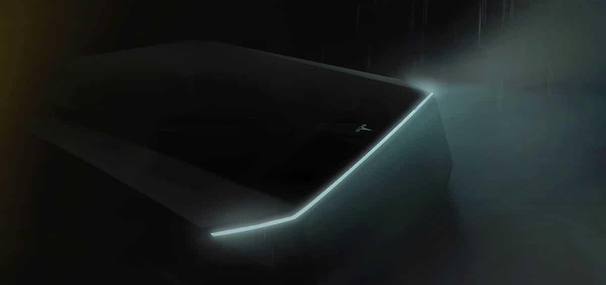Tesla truck cyberpunk teaser
