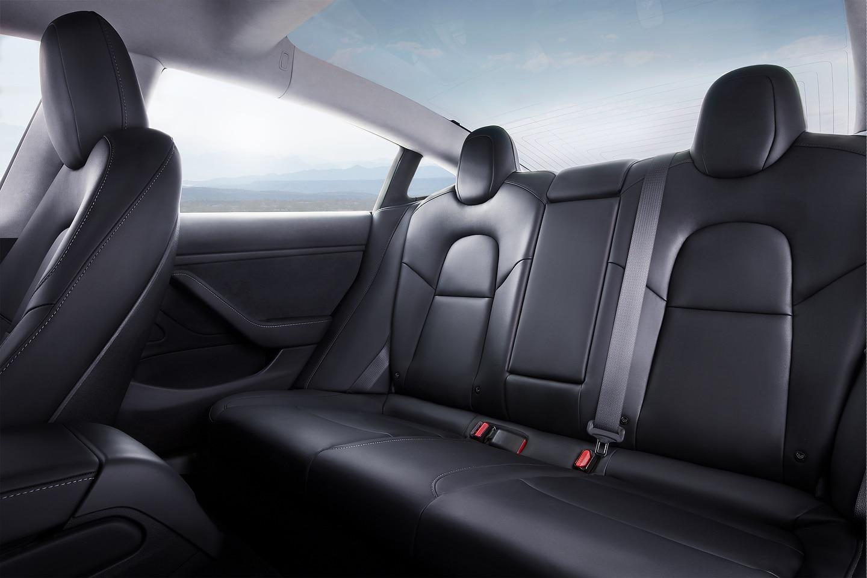 2019 Tesla Model 3 Interior Rear seats