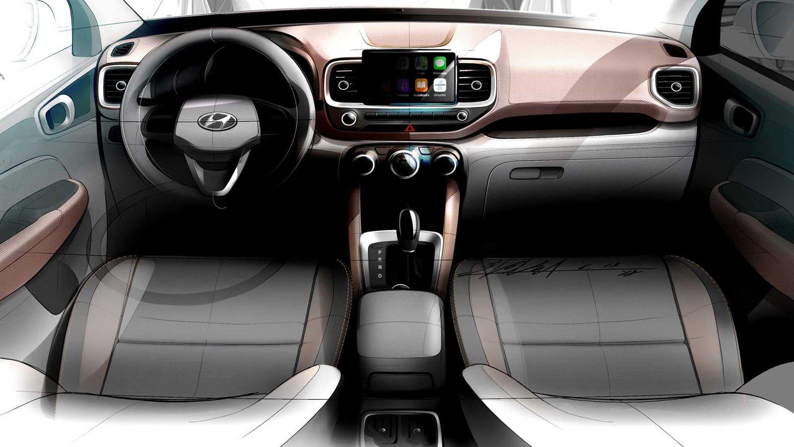 2020 Hyundai Venue Teaser Image Interior