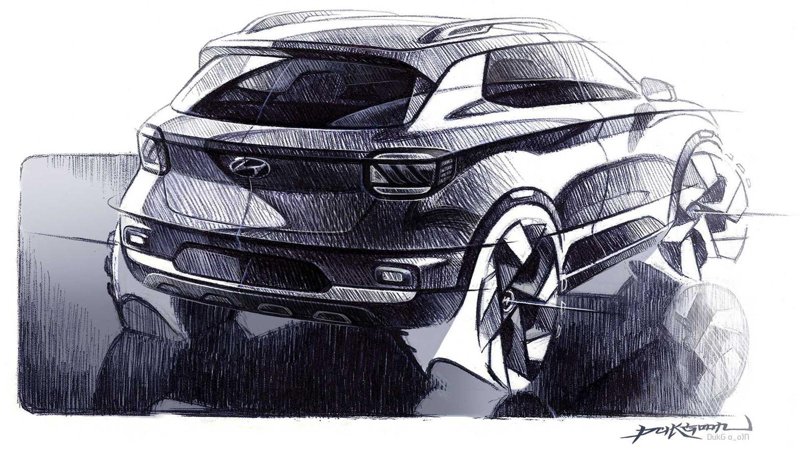 2020 Hyundai Venue Teaser Image Rear