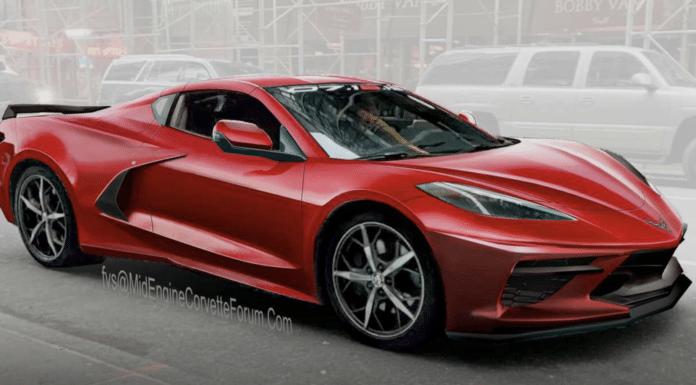 2020 Chevy Corvette C8 rendering