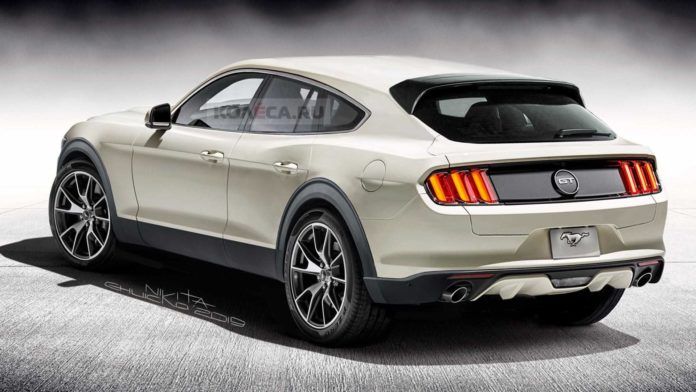 Ford Mustang Electric SUV rendering 1
