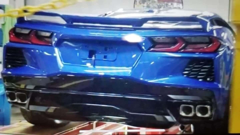 C8 Corvette Rear Image Leak
