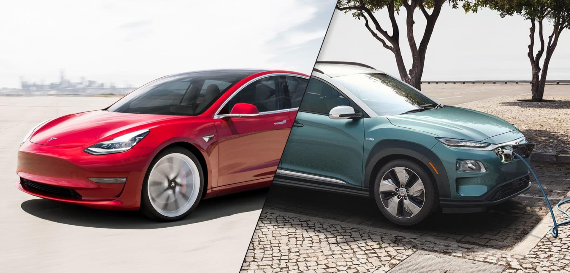 2019 Tesla Model 3 vs 2019 Hyundai Kona EV