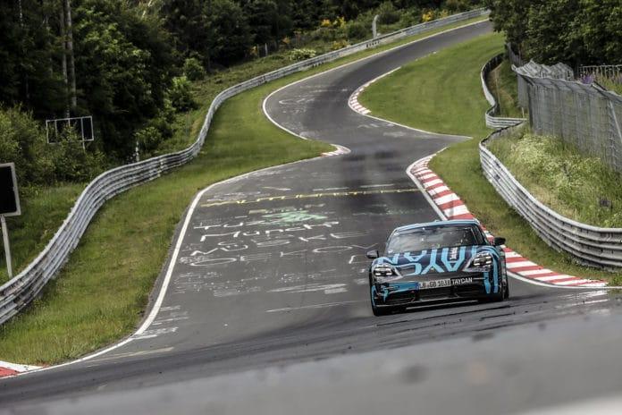 Porsche Taycan laps the Nurburgring-Nordschleife in 7m42s
