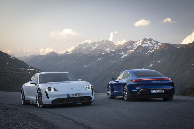 2020 Porsche Taycan Turbo S and Taycan Turbo
