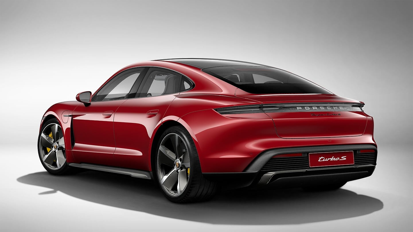 2020 Porsche Taycan Turbo S in Carmine Red
