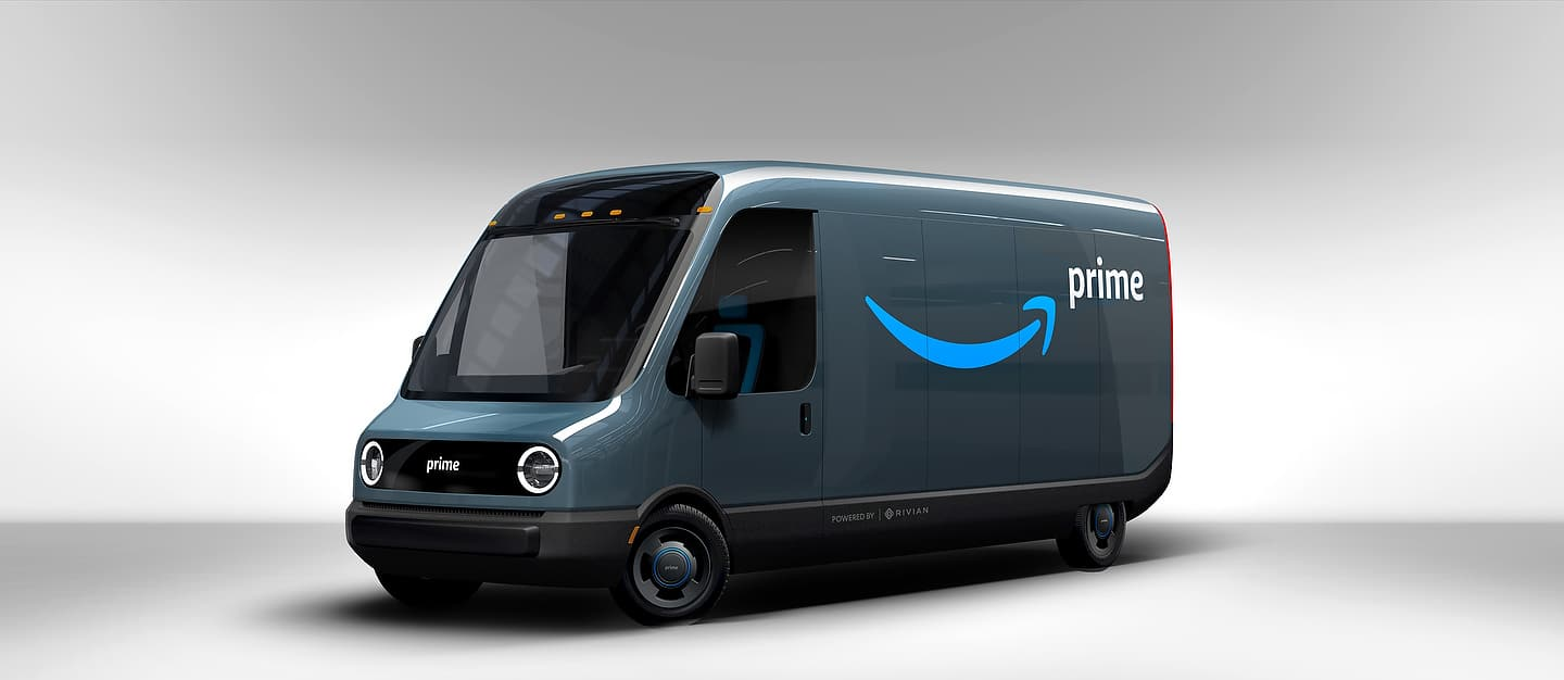 Amazon's Rivian delivery van