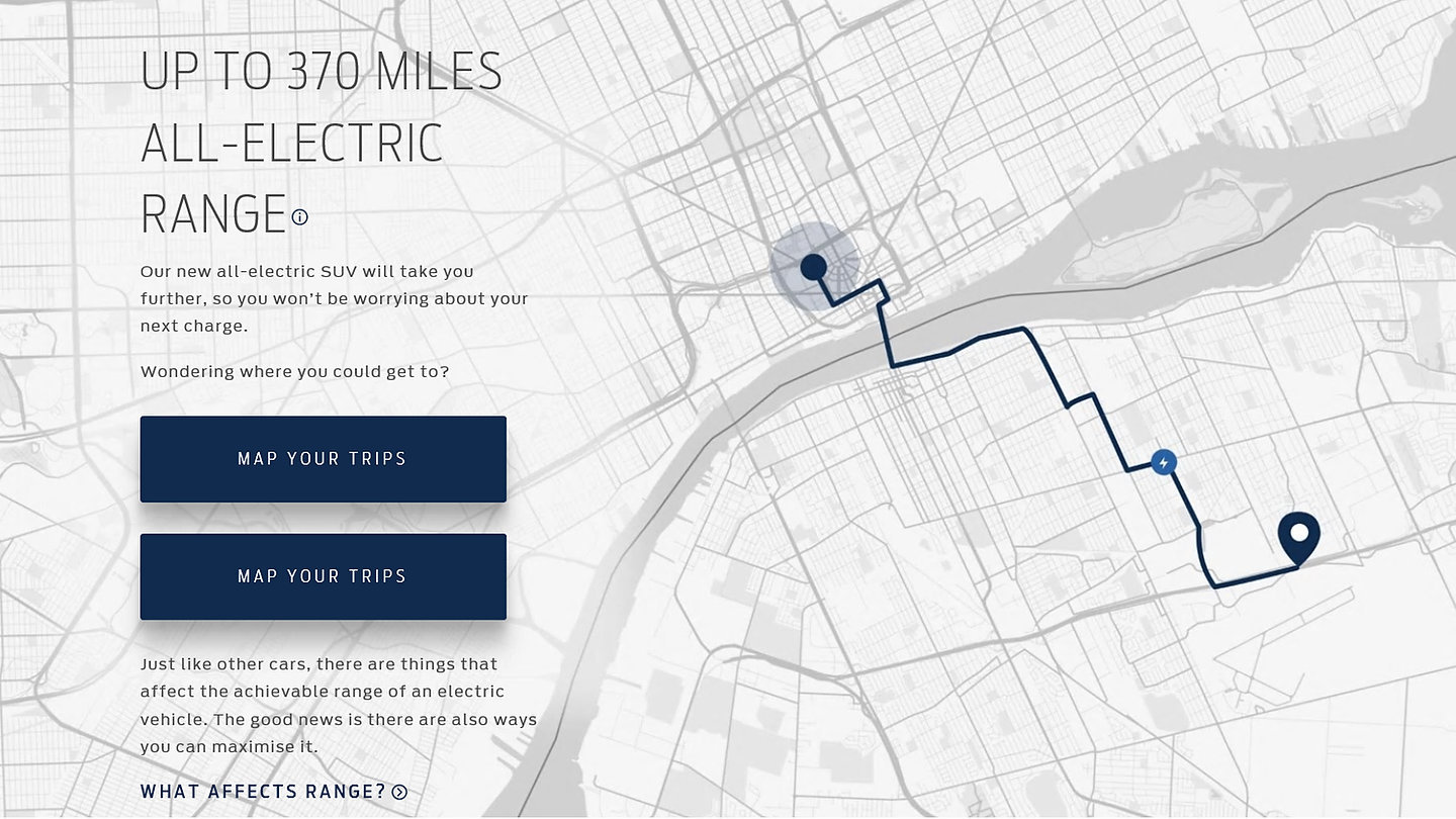 How Far Will Ford's All-Electric SUV Take You? Website EV Range