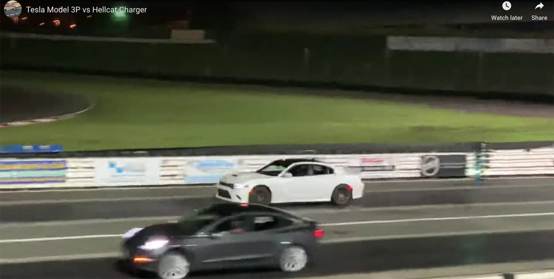 Tesla Model 3 vs Charger Hellcat